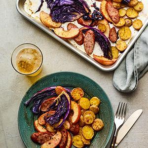Sheet-Pan Sausage Supper