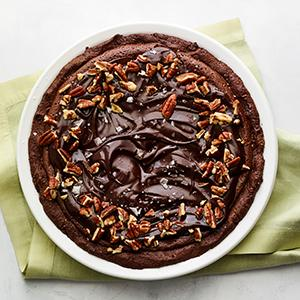 Chocolate-Bourbon Pie with Pecan Crust