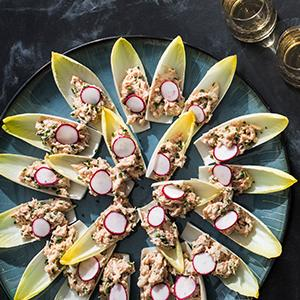Crab Louis in Endive Cups