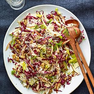 Radicchio and Pear Slaw