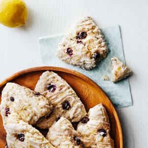 Vegan Lemon-Blueberry Scones