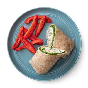 Basil-Artichoke Chicken Salad Wraps