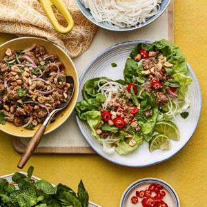Thai-Style Lettuce Cups with Ground Pork