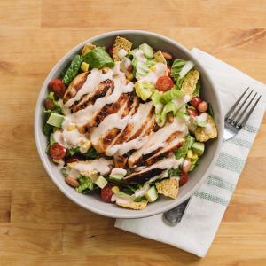 Southwestern Chicken Salad with Creamy BBQ Dressing