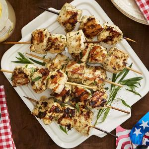 Zesty Tarragon Chicken Kebabs