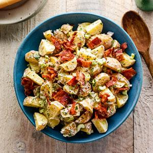 Lightened-Up Potato Salad with Bacon