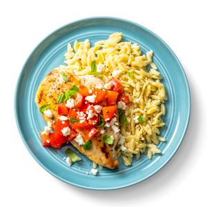 One-Pan Mediterranean Chicken with Orzo