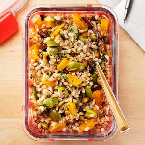 Farro Salad with Apricots and Olives