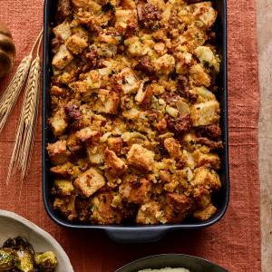 Cornbread and Sausage Stuffing with Fennel and Herbs
