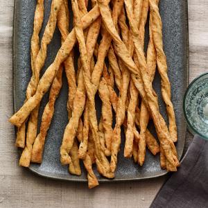 Crispy Thyme and Dijon Cheese Straws