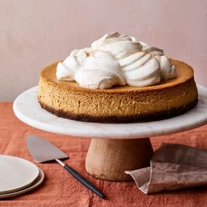 Pumpkin Cheesecake with Tangy Whipped Cream