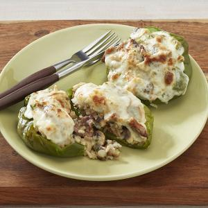 Cheese Steak Stuffed Peppers