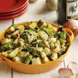 Brussels Sprouts and Shallot Panzanella