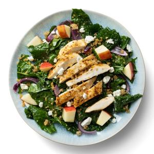 Hearty Kale Salad with Chicken and Crispy Quinoa