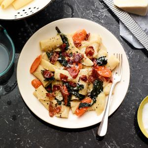 Rigatoni with Carrots, Parsnips, and Prosciutto