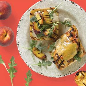 Chef Matt Louis' Grilled Chicken and Peach Picnic Sandwich