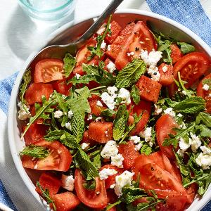 Tomato and Watermelon Salad with Feta