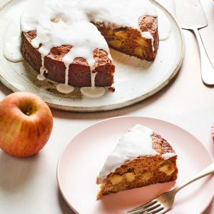 Honey Apple Cake with Cider Glaze