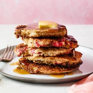 Steel-Cut Oat and Berry Pancakes