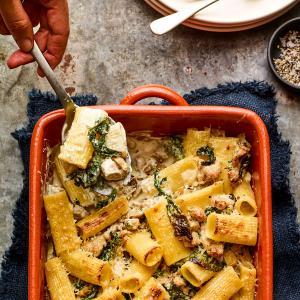 Chicken Sausage and Broccoli Rabe Pasta Bake