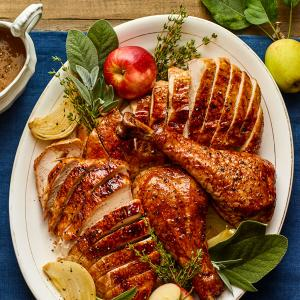 Maple-and-Bourbon-Glazed Turkey