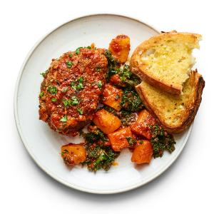 Mini Meatloaves with Garlic Bread