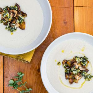 White Bean Soup with Mushrooms and Sage Gremolata