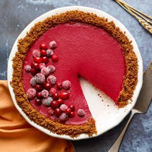 Cranberry Curd Pie