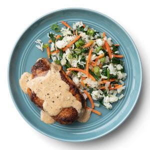 Pork Chops with Veggie Rice Medley