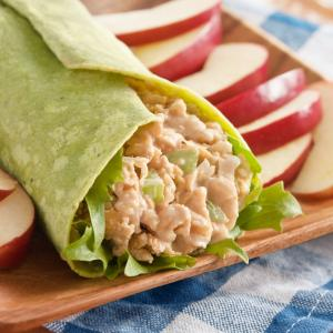 Buffalo Chickpea Salad Wraps