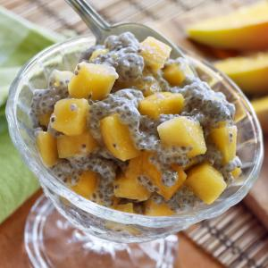 Coconut Mango Pudding