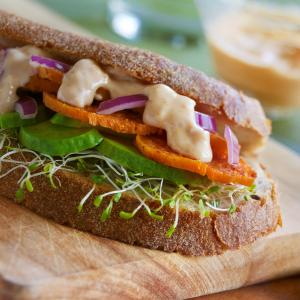 Spicy Sweet Potato Sandwich