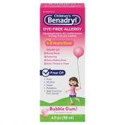 Children's Benadryl Allergy Bubble Gum Flavored