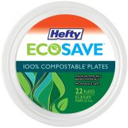 Hefty EcoSave 8-3/4 Inch Compostable Plates
