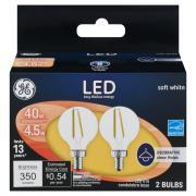 GE LED 5w Soft White Clear Globe