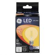 GE LED 4w Soft White Clear Globe