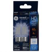 GE LED Reveal HD 4 Clear Bulbs