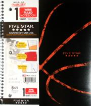 Mead Five Star Notebook Wide Rule 100 Sheet