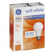 GE 40w Soft White Energy Efficient Incandescent Bulbs