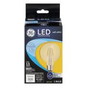 GE LED 5w (60w Replacement) Soft White Clear Globe