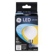 GE LED 5.5w Soft White Frosted Finish Decorative Globe