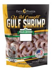 Paul Piazza Peeled & Deveined Raw Wild American Shrimp 26/35