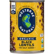Westbrae Organic Low Sodium Black Lentils