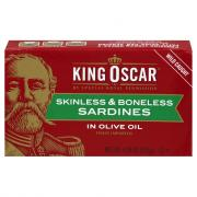 King Oscar Skinless & Boneless Sardines in Olive Oil