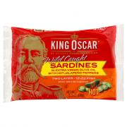 King Oscar Sardines in Extra Virgin Olive Oil Hot Jalapenos