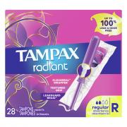 Tampax Radiant Regular Unscented Tampons