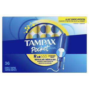 Tampax Pocket Pearl Regular Unscented Tampons