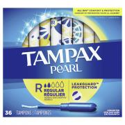 Tampax Pearl Regular Unscented Tampons