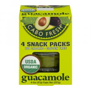 Cabo Fresh Organic Guacamole Snack Packs 4 Pack