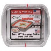 Ichef Square Cake Pans & Lids